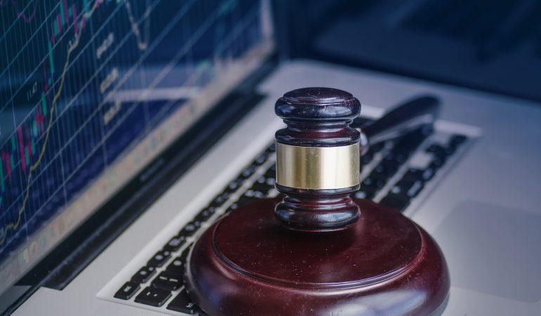 Cyber crime legal law concept image